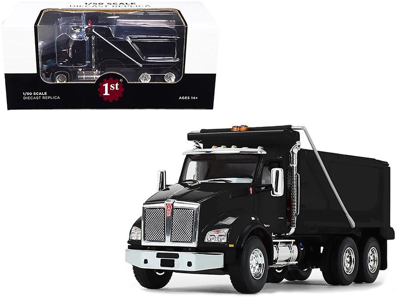 Kenworth T880 Dump Truck Black 1/50 Diecast Model First Gear 50-3468
