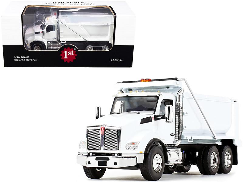 Kenworth T880 Dump Truck White 1/50 Diecast Model First Gear 50-3471