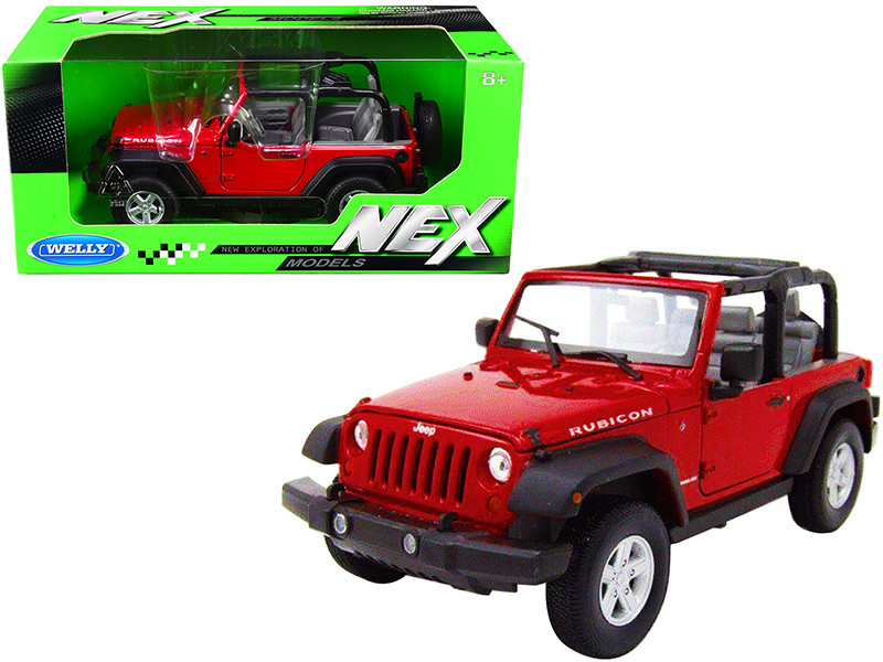 Jeep Wrangler Rubicon Red NEX Models 1/24 Diecast Model Car Welly 22489