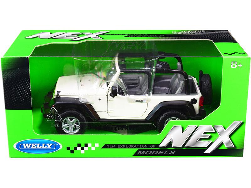 Jeep Wrangler Rubicon White NEX Models 1/24 Diecast Model Car Welly 22489