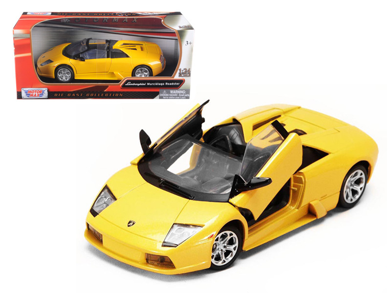 Lamborghini Murcielago Roadster Yellow 1/24 Diecast Model Car Motormax 73316