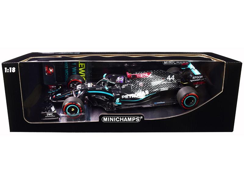 Mercedes-AMG F1 W11 EQ Performance #44 Lewis Hamilton Petronas Formula One Team 91st Formula One F1 Win Eifel Grand Prix 2020 PIT BOARD HELMET Limited Edition 2200 pieces Worldwide 1/18 Diecast Model Car Minichamps 110201144