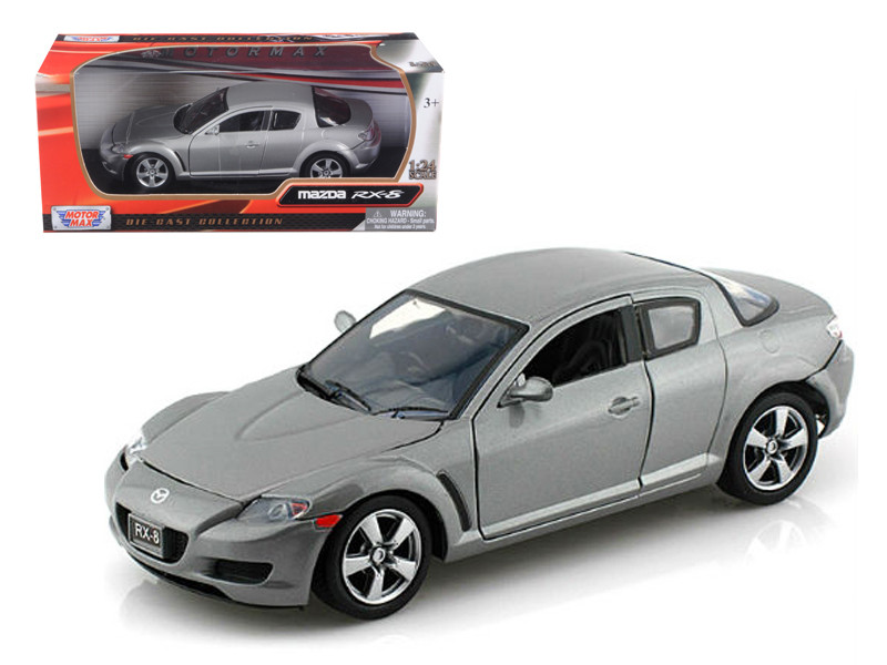 Mazda RX-8 Grey 1/24 Diecast Car Model Motormax 73323