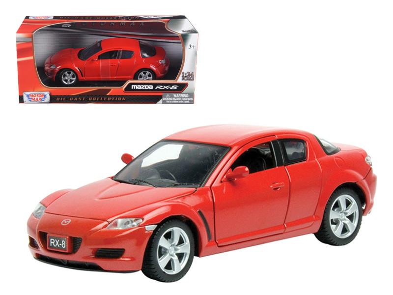 Mazda RX-8 Red 1/24 Diecast Car Model Motormax 73323
