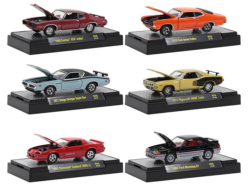 Auto Meets Set of 6 Cars IN DISPLAY CASES Release 58 Limited Edition 6250 pieces Worldwide 1/64 Diecast Model Cars M2 Machines 32600-58