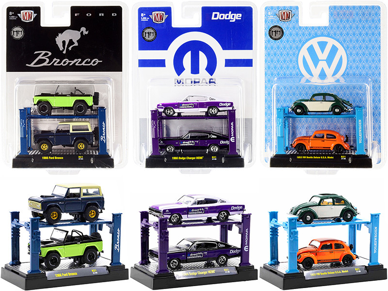 Auto Lifts Set of 6 pieces Series 21 Limited Edition 5650 pieces Worldwide 1/64 Diecast Model Cars M2 Machines 33000-21
