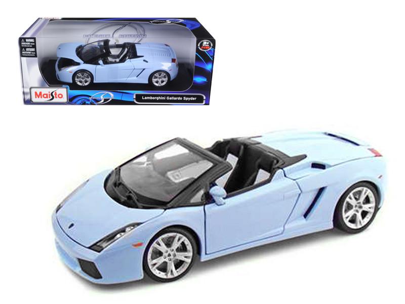 Lamborghini Gallardo Spyder Blue 1/18 Diecast Model Car Maisto 31136