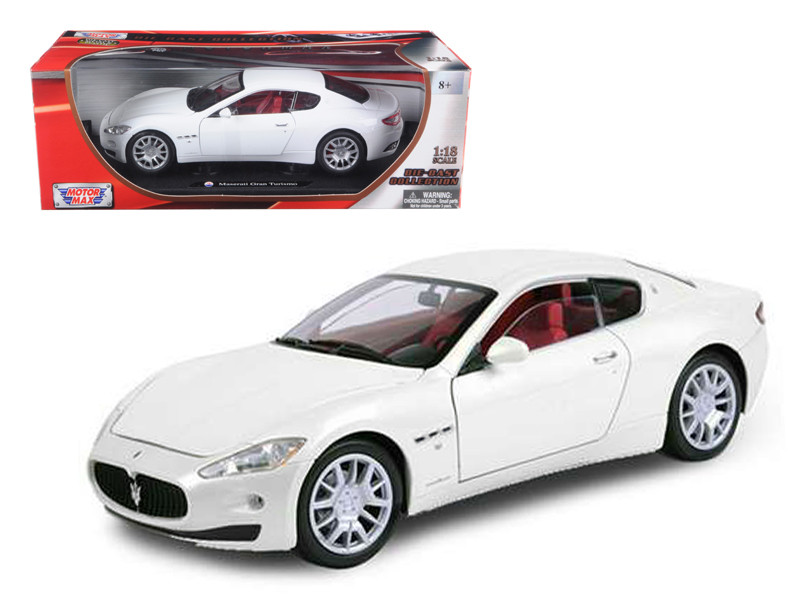 Maserati GT Gran Turismo White 1/18 Diecast Car Model Motormax 79151