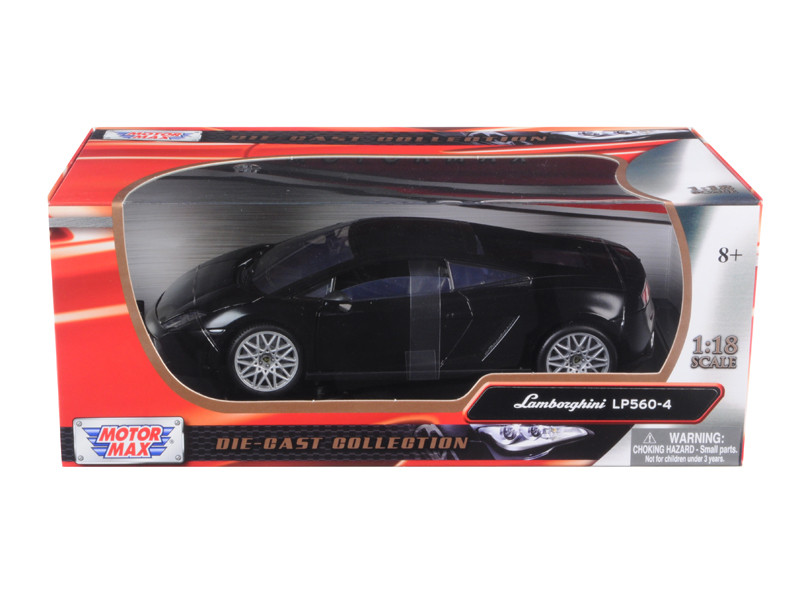 Lamborghini LP 560-4 Black 1/18 Diecast Car Model Motormax 79152