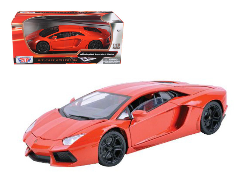 Lamborghini Aventador LP700-4 Orange 1/18 Diecast Car Model Motormax 79154