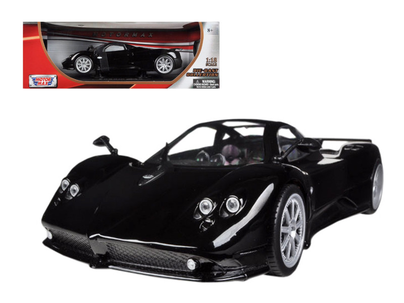 Pagani Zonda F Black 1/18 Diecast Car Model Motormax 79159