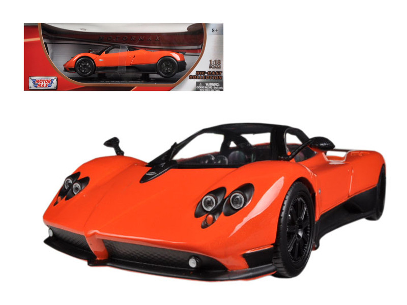 Pagani Zonda F Orange 1/18 Diecast Car Model Motormax 79159