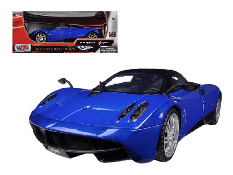 Pagani Huayra Blue 1/18 Diecast Car Model Motormax 79160