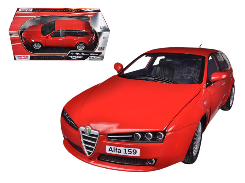 Alfa 159 SW Red 1/18 Diecast Car Model Motormax 79166