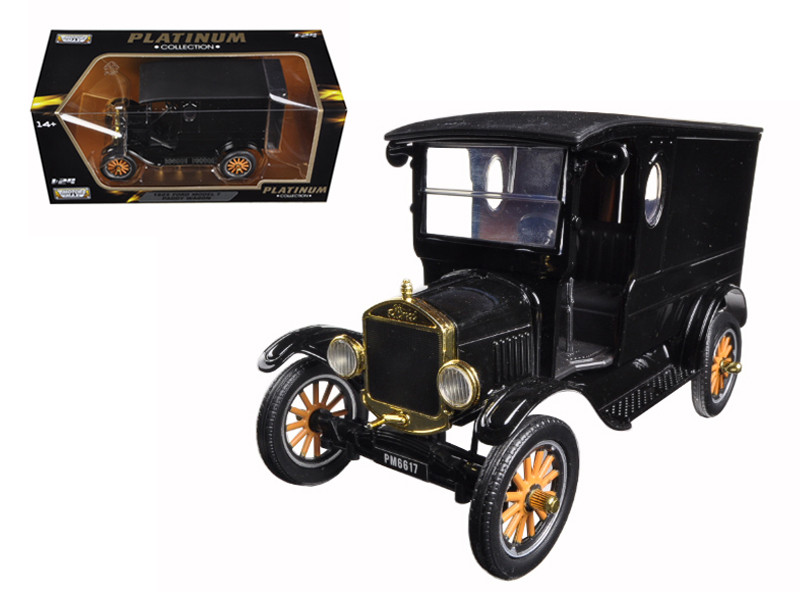 1925 Ford Model T Paddy Wagon Black 1/24 Diecast Model Car Motormax 79316