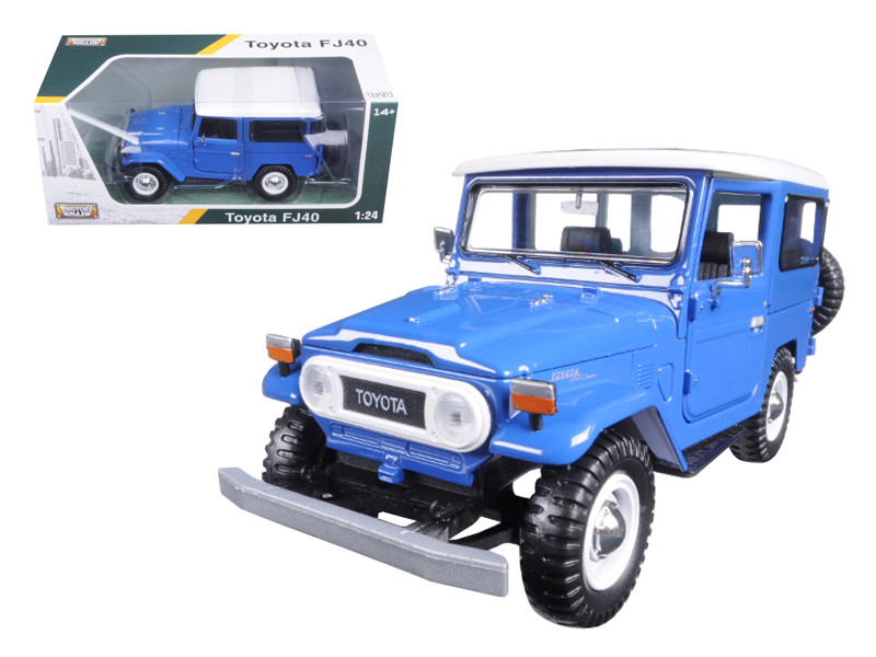 Toyota FJ40 Blue 1/24 Diecast Model Car Motormax 79323