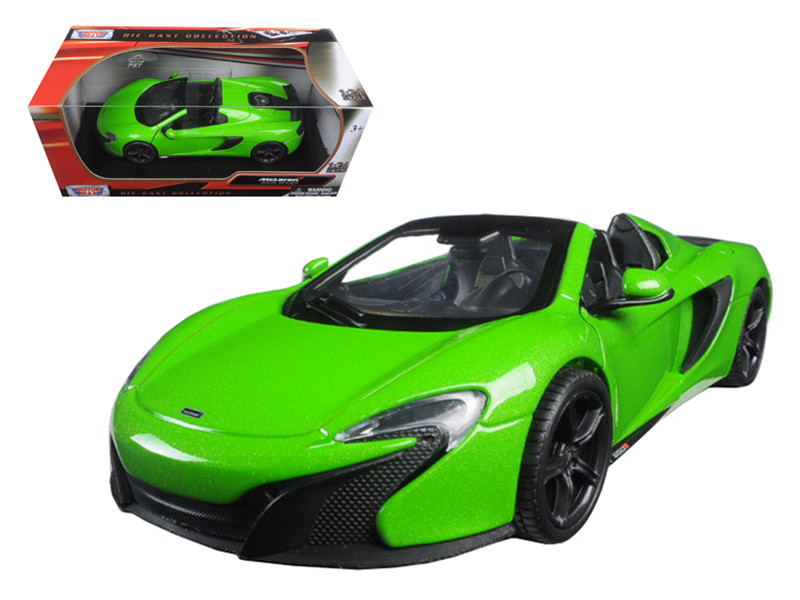 McLaren 650S Spider Green 1/24 Diecast Model Car Motormax 79326
