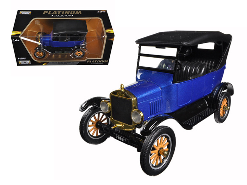 1925 Ford Model T Touring Blue 1/24 Diecast Model Car Motormax 79319