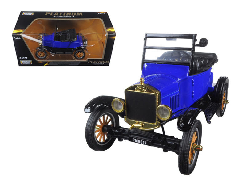1925 Ford Model T Runabout Blue 1/24 Diecast Model Car Motormax 79327