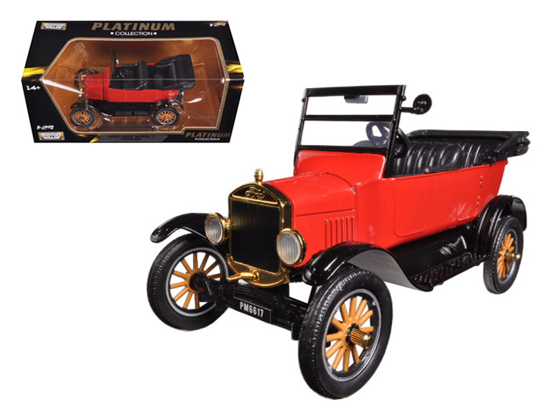 1925 Ford Model T Touring Red 1/24 Diecast Model Car Motormax 79328