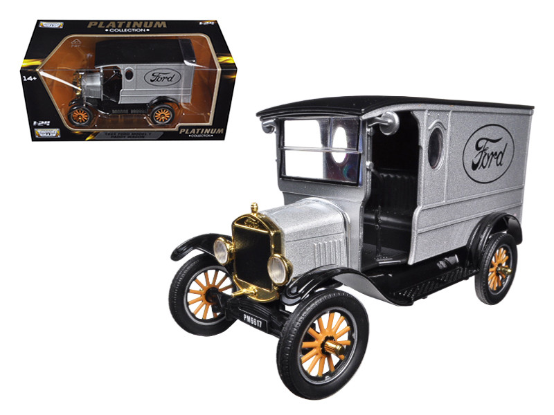 1925 Ford Model T Paddy Wagon Silver 1/24 Diecast Model Car Motormax 79329