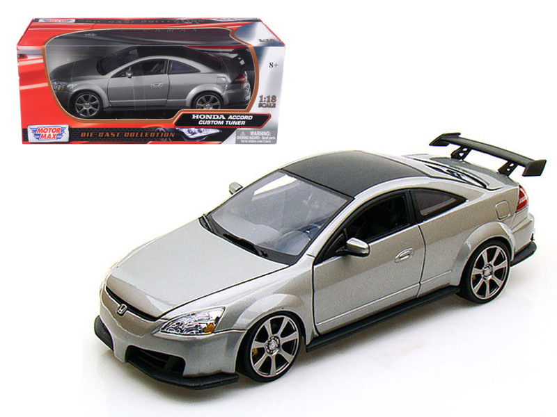 2003 Honda Accord Custom Tuner Grey 1/18 Diecast Model Motormax 73146