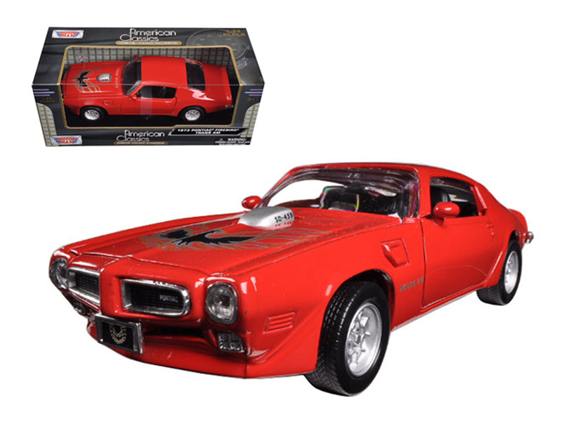 1973 Pontiac Firebird Trans Am Red 1/24 Diecast Model Car Motormax 73243