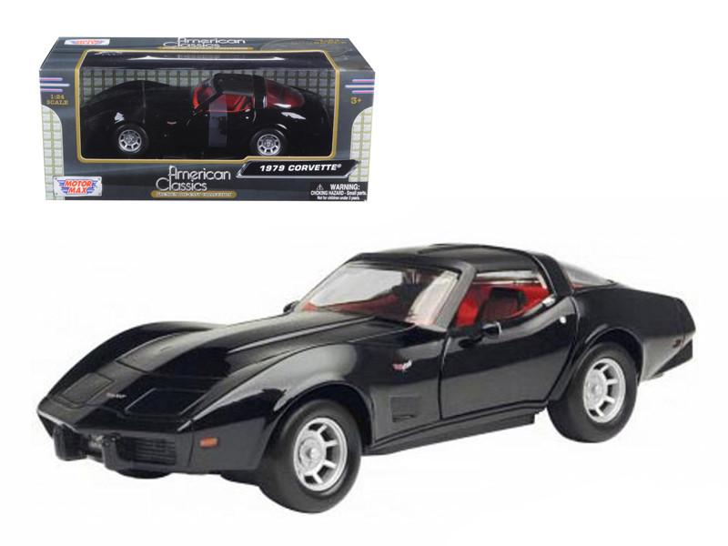 1979 Chevrolet Corvette Black 1/24 Diecast Car Model Motormax 73244