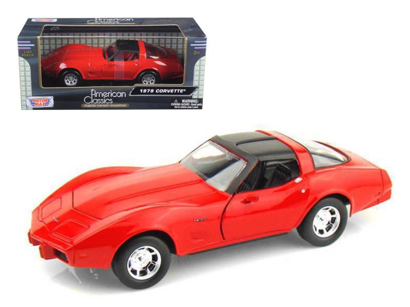 1979 Chevrolet Corvette Red 1/24 Diecast Model Car Motormax 73244