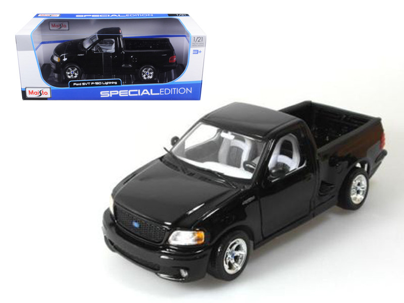 Ford F-150 SVT Lightning Black Pick Up Truck 1/21 Diecast Model Maisto 31141