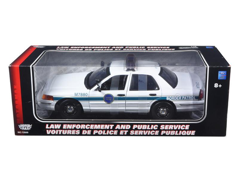Ford Crown Victoria Border Patrol Car 1/18 Diecast Model Car Motormax 73513