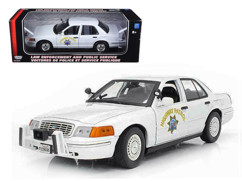 Ford Crown Victoria California Highway Patrol Car White 1/18 Diecast Model Car Motormax 73524