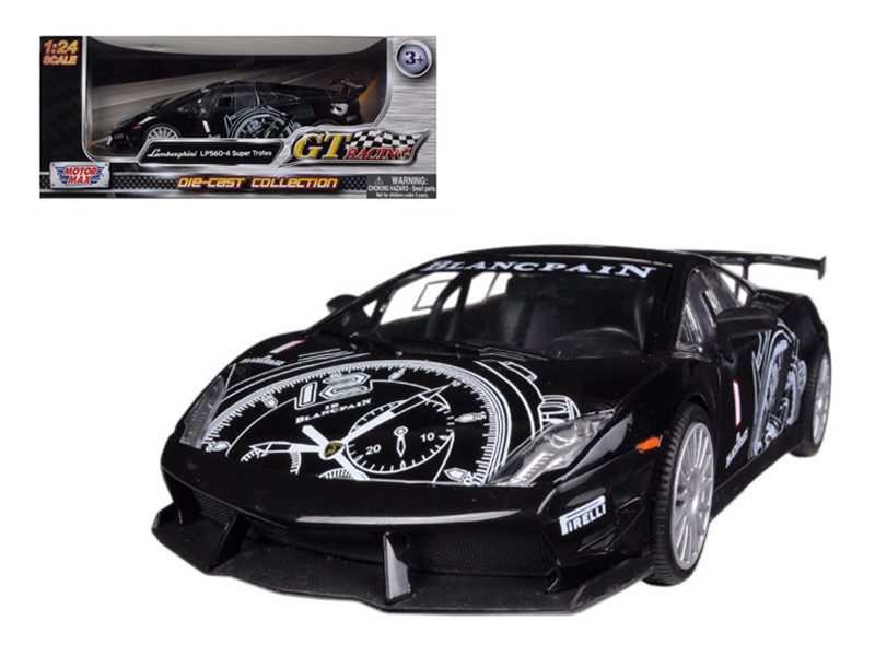 Lamborghini Gallardo LP560-4 Black Super Trofeo GT Racing 1/24 Diecast Car Model Motormax 73363