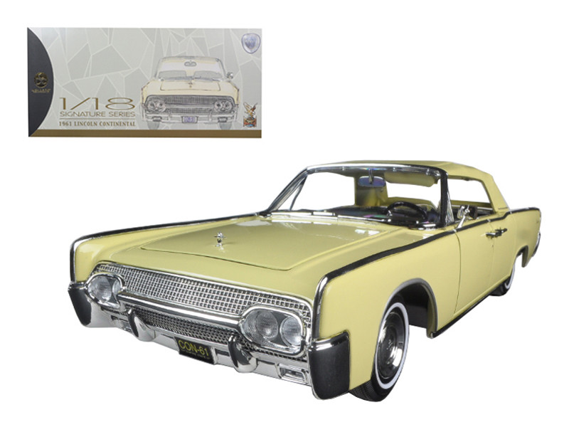 1961 Lincoln Continental Yellow 1/18 Diecast Model Car Road Signature 20088