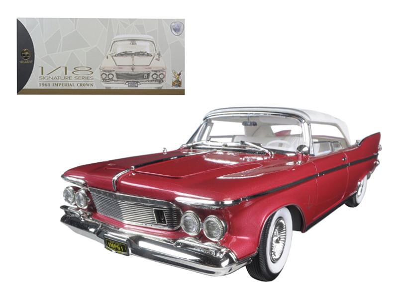 1961 Chrysler Imperial Crown Plum 1/18 Diecast Model Car Road Signature 20138
