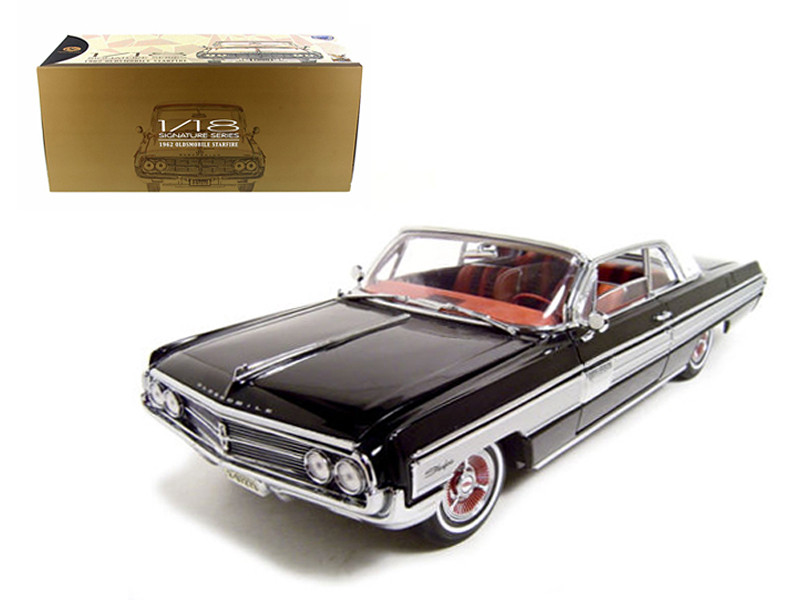 1962 Oldsmobile Starfire Black 1/18 Diecast Car Model Road Signature 20208