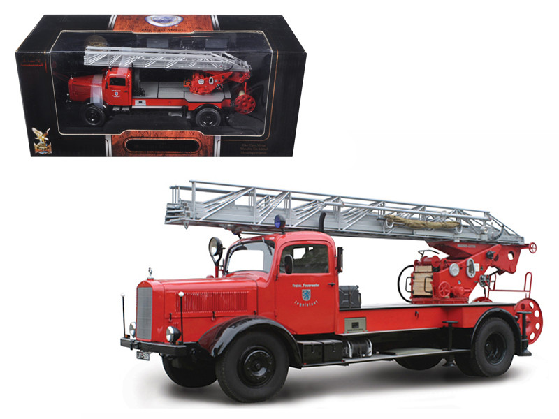 1944 Mercedes L4500F Fire Engine Red 1/24 Diecast Car Road Signature 20228