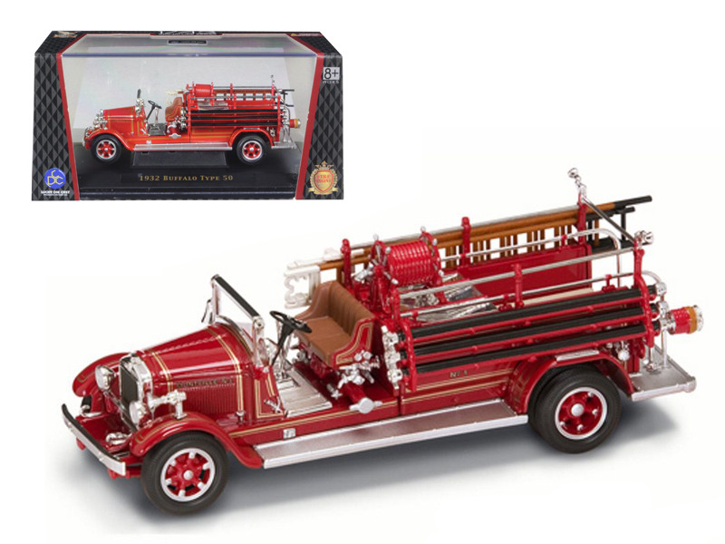 1932 Buffalo Type 50 Fire Engine Red 1/43 Diecast Car Model Road Signature 43005