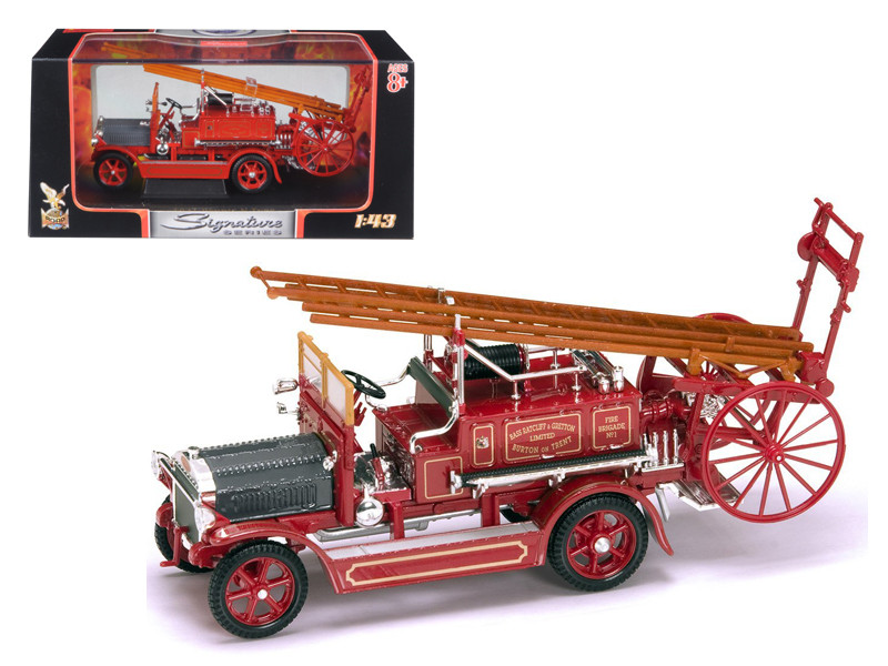 1921 Dennis N Type Fire Engine Red 1/43 Diecast Car Model Road Signature 43008