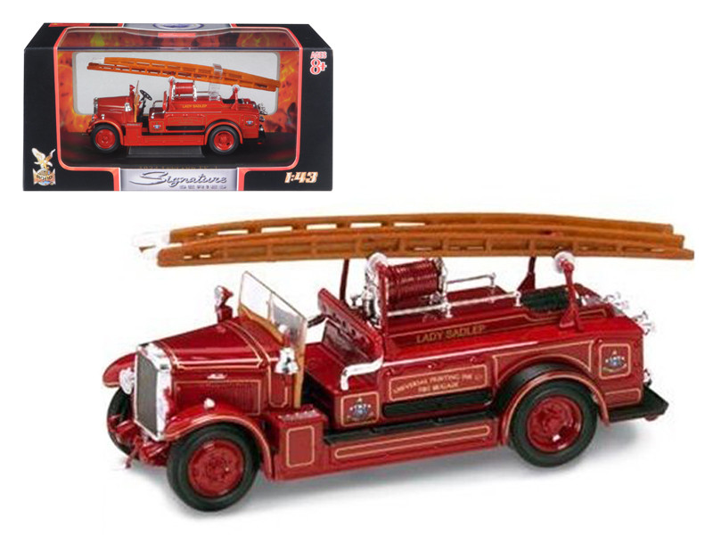 1934 Leyland FK-1 Fire Engine Red 1/43 Diecast Car Model Road Signature 43009