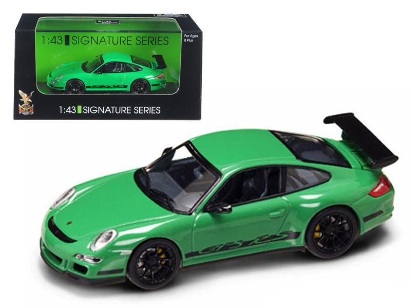 Porsche 911 997 GT3 RS Green 1/43 Diecast Car Model by Road Signature