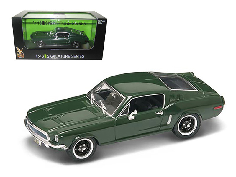 1968 Ford Mustang GT Green 1/43 Diecast Car Model Signature Series Road Signature 43207