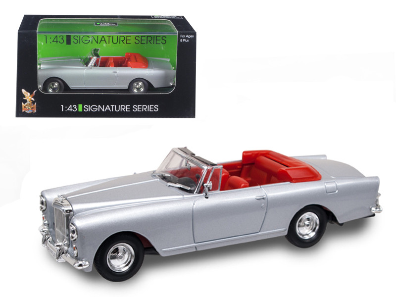 1961 Bentley Continental S2 Park Ward DHC Convertible Silver 1/43 Diecast Car Model Road Signature 43214
