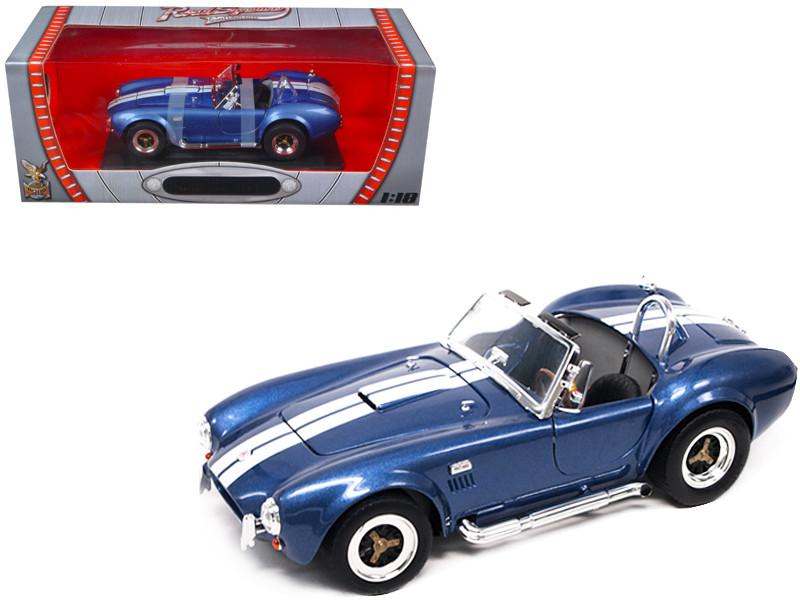 1964 Shelby Cobra 427 S/C Blue 1/18 Diecast Car Road Signature 92058
