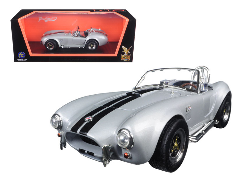 1964 Shelby Cobra 427 S/C Roadster Gray 1/18 Diecast Model Car Road Signature 92058