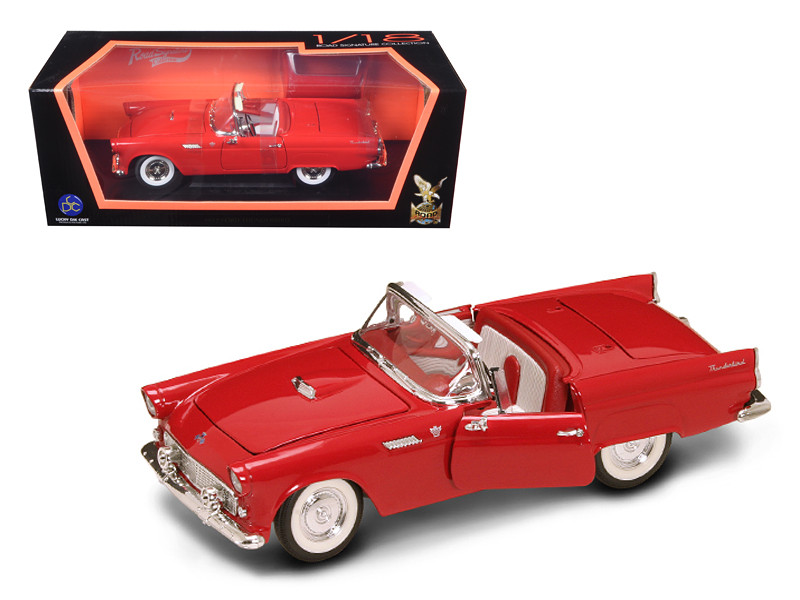 1955 Ford Thunderbird Red With Red Roof 1/18 Diecast Model Car Road Signature 92068