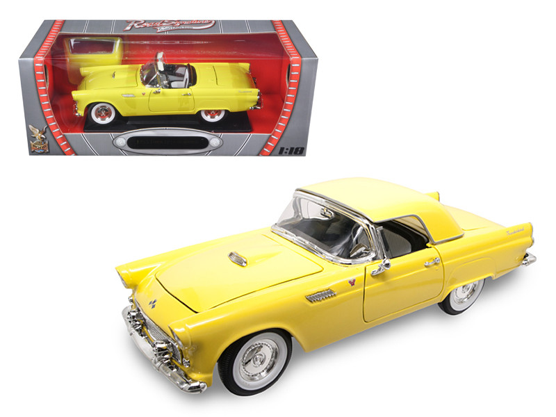 1955 Ford Thunderbird Yellow 1/18 Diecast Model Car Road Signature 92068