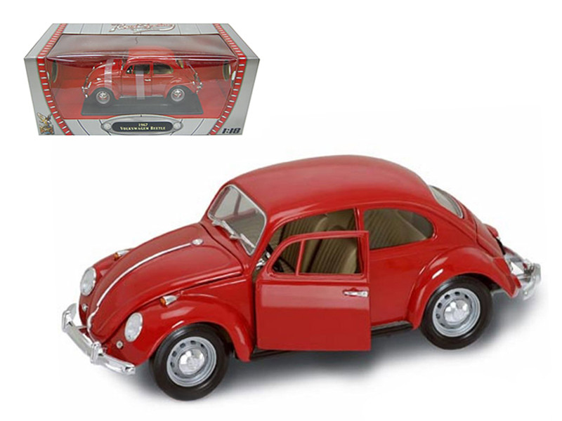 1967 Volkswagen Beetle Red 1/18 Diecast Model Car Road Signature 92078