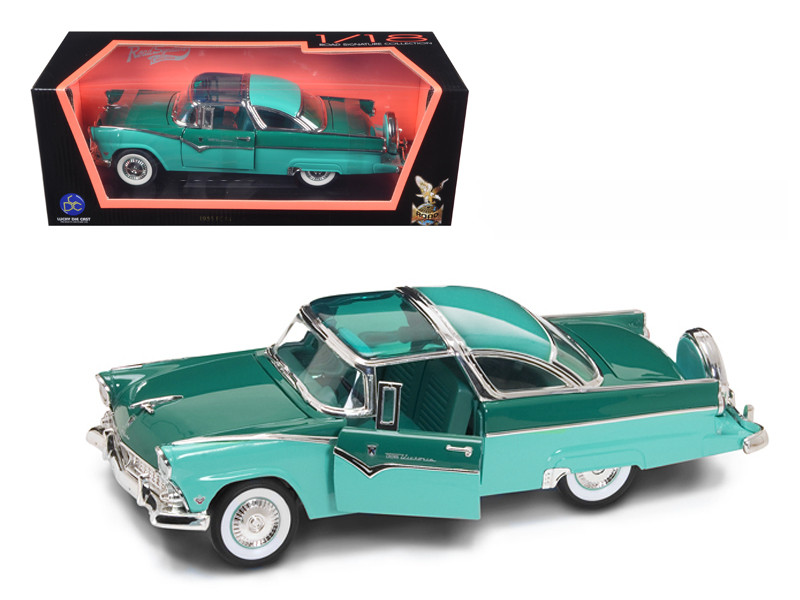 1955 Ford Fairlane Crown Victoria Green 1/18 Diecast Car Road Signature 92138
