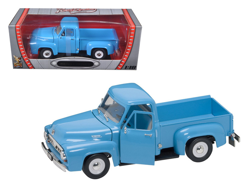 1953 Ford F-100 Pickup Light Blue 1/18 Diecast Car Road Signature 92148